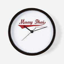 Team Muay Thai Wall Clock