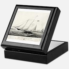 The yacht Haze - 1861 Keepsake Box