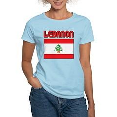 Lebanon Women's Pink T-Shirt