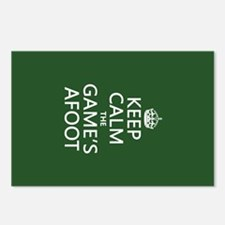 Keep Calm the Game's Afoot Postcards (Package of 8