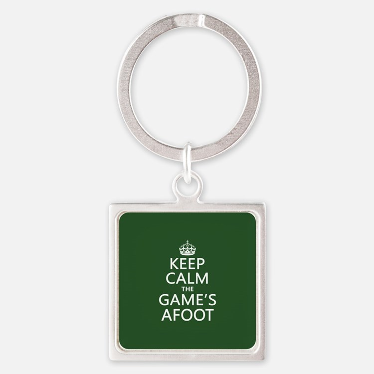 Keep Calm the Game's Afoot Keychains