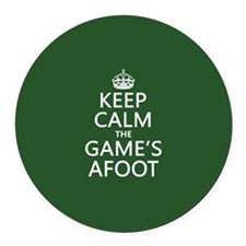 Keep Calm the Game's Afoot Round Car Magnet