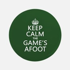 "Keep Calm the Game's Afoot 3.5"" Button (100 pack)"