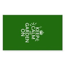 Keep Calm and Garden On Decal
