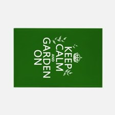 Keep Calm and Garden On Rectangle Magnet