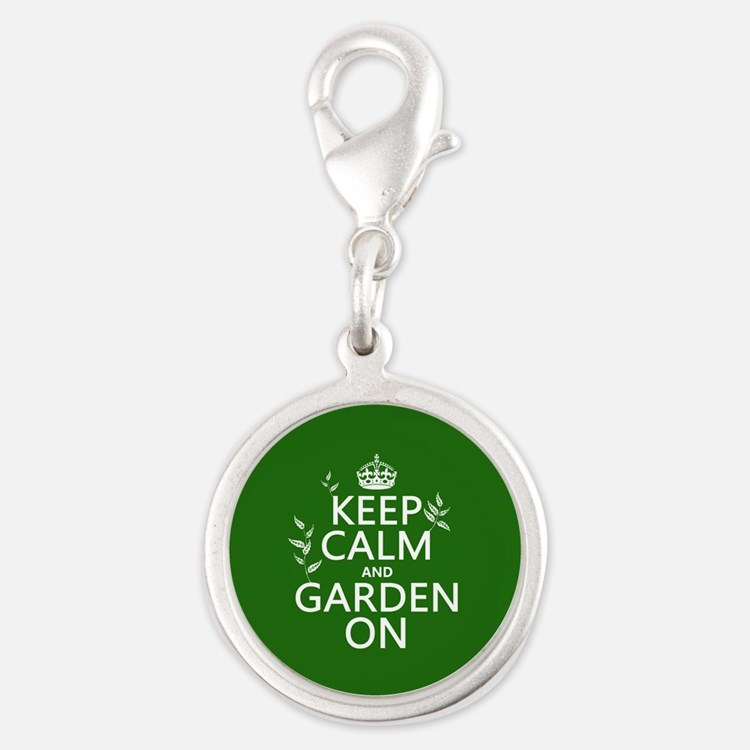 Keep Calm and Garden On Charms