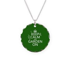 Keep Calm and Garden On Necklace