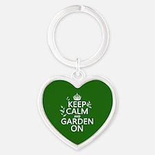 Keep Calm and Garden On Keychains