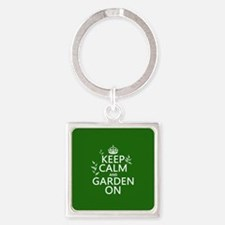 Keep Calm and Garden On Keychains