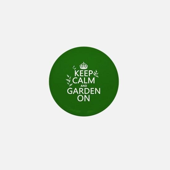 Keep Calm and Garden On Mini Button