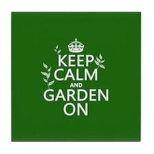Keep Calm and Garden On Tile Coaster