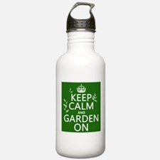 Keep Calm and Garden On Sports Water Bottle