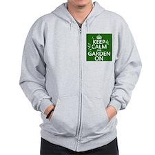 Keep Calm and Garden On Zip Hoody