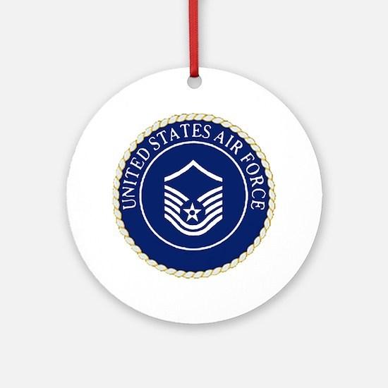 USAFMasterSergeantCapCrest.gif Round Ornament