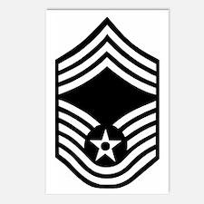 USAFChiefMasterSergeantBl Postcards (Package of 8)