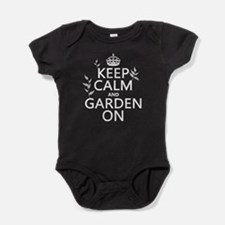 Keep Calm and Garden On Baby Bodysuit