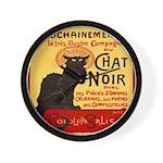 Le Chat Noir 3 Wall Clock