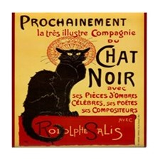Le Chat Noir 3 Tile Coaster