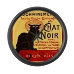 Le Chat Noir 3 Large Wall Clock