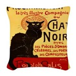 Le Chat Noir 3 Woven Throw Pillow