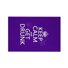 Keep Calm and Get Drunk Rectangle Magnet