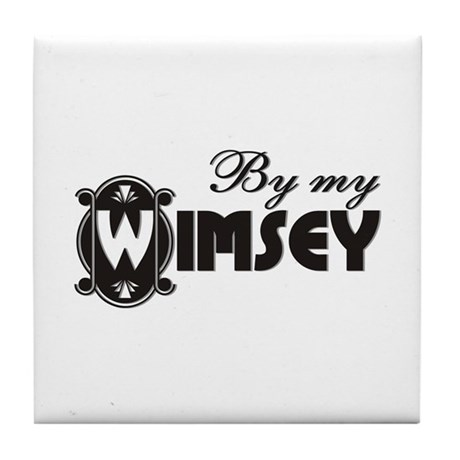 By My Wimsey Tile Coaster
