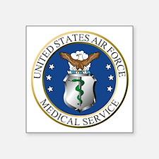 """USAFMedicalServiceLogoDenni Square Sticker 3"""" x 3"""""""