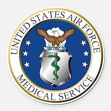 USAFMedicalServiceLogoDennis.gif Round Car Magnet