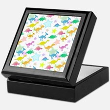 Cute Dinosaurs Pattern Keepsake Box