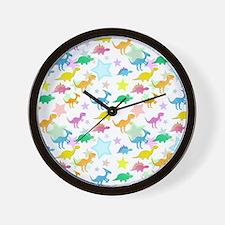 Cute Dinosaurs Pattern Wall Clock