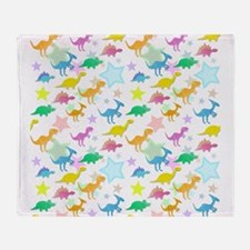Cute Dinosaurs Pattern Throw Blanket