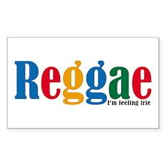 Reggae Rectangle Decal