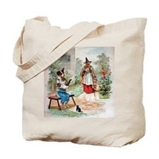 He Was Feeding The Cat,  Old Mother Hubba Tote Bag
