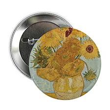 "Vincent Van Gogh Vase With 12 Sunflowers 2.25"" But"