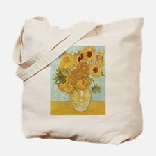 Vincent Van Gogh Vase With 12 Sunflowers Tote Bag