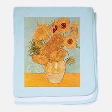 Vincent Van Gogh Vase With 12 Sunflowers baby blan