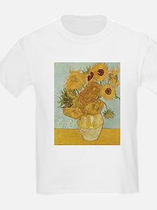 Vincent Van Gogh Vase With 12 Sunflowers T-Shirt