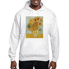 Vincent Van Gogh Vase With 12 Sunflowers Hoodie