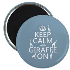 """Keep Calm and Giraffe On 2.25"""" Magnet (10 pack)"""