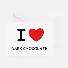 I love dark chocolate Greeting Cards (Pk of 10