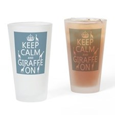 Keep Calm and Giraffe On Drinking Glass