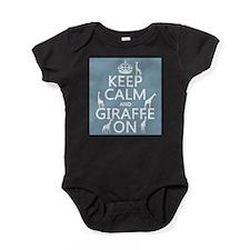 Keep Calm and Giraffe On Baby Bodysuit