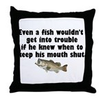 Dumb Fish Throw Pillow