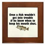 Dumb Fish Framed Tile