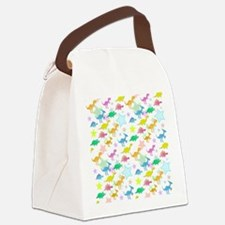 Cute Dinosaurs Pattern Canvas Lunch Bag