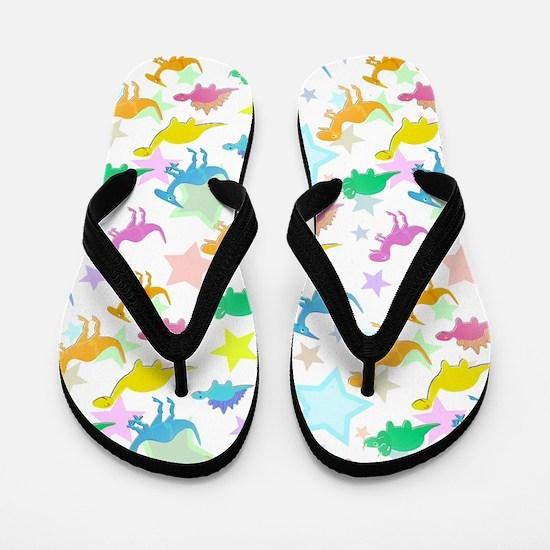 Cute Dinosaurs Pattern Flip Flops