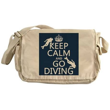 Keep Calm and Go Diving (scuba) Messenger Bag
