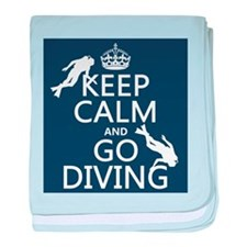 Keep Calm and Go Diving (scuba) baby blanket