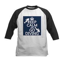 Keep Calm and Go Diving (scuba) Baseball Jersey