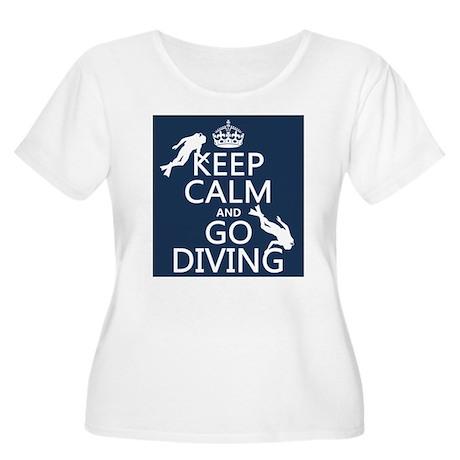 Keep Calm and Go Diving (scuba) Plus Size T-Shirt